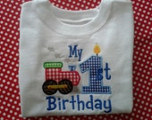 My 1st Birthday Choo-Choo Train Shirt or Onesie  - Personalized Embroidery - Custom Embroidery