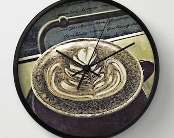 mokaccino - wall clock