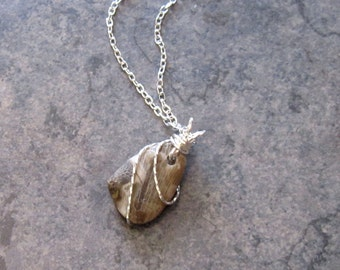 Lake Michigan Fossil Necklace