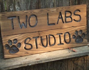 Custom Carved wood sign from reclaimed wood - personalized - western cedar