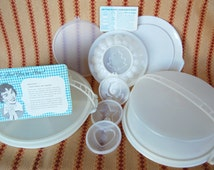 Vintage All White Tupperware Party Susan Relish Tray Everything You Need to Take All Your Party Goodies