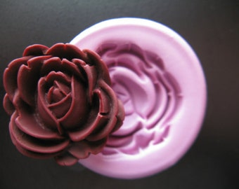 Rose Fondant Silicone Mold Resin Clay PMC Wax Soap Embed Silicone Flexible Mold