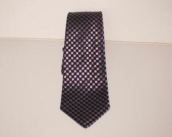 Gray and Maroon Skinny Tie silk