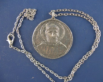 Handmade St Peregrine Medal on Chain, Patron Cancer Patients and Those Cured