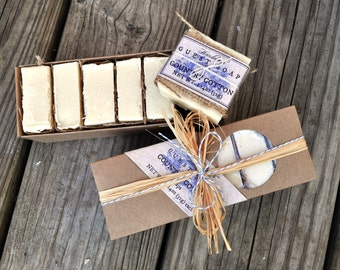 Country Cotton Guest Soap Gift - Burlap,  Shabby Chic, Holiday