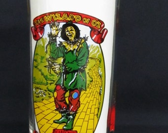Wizard Of Oz SCARECROW Coca-Cola Collectors Series Drinking Glass Tumbler  Libbey Glass 50th Anniversary