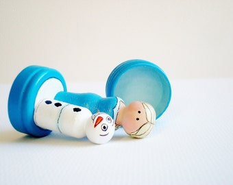 Frozen Peg Elsa and Olaf Tooth Fairy/ Treasure Box- Ready to Ship