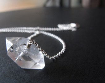 Solo Herkimer Diamond Necklace Sterling Silver