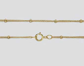 20 Inches - Gold Filled Satellite Chain