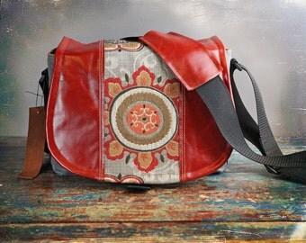 Leather Camera Bag New Satchel  -   Flower Leather Medium DSLR - Pre-Order
