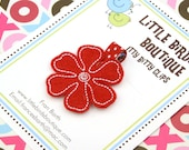 BUY 4 GET 1 FREE- Baby Toddler Hair Clip/Bow Red Felt Flower