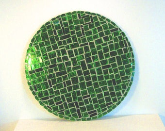 Stained Glass Mosaic Spring Emerald Green Housewares Home Decor Wall Decor Wall Hanging