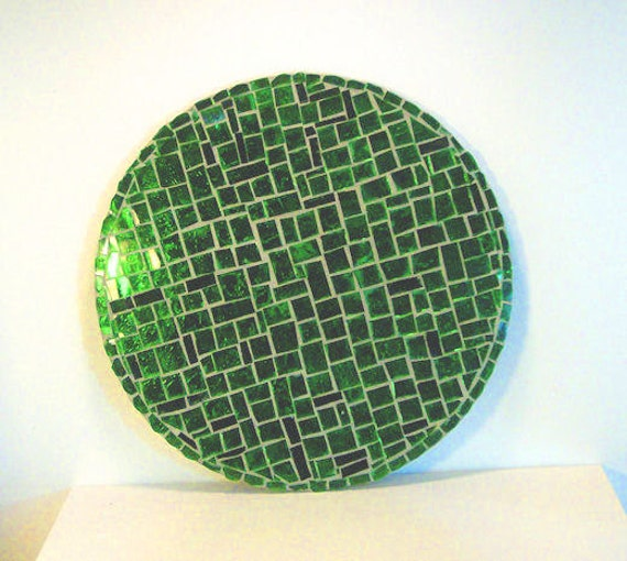 Stained Glass Mosaic Glass On Glass Spring Green Housewares Home Decor Wall Decor Wall Hanging