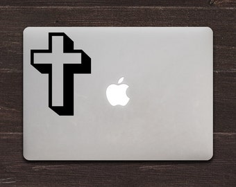 Cross Vinyl MacBook Decal BAS-0126