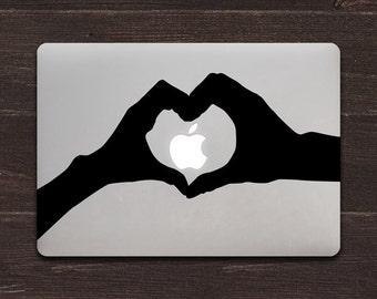 Heart Hands Vinyl MacBook Decals BAS-0146