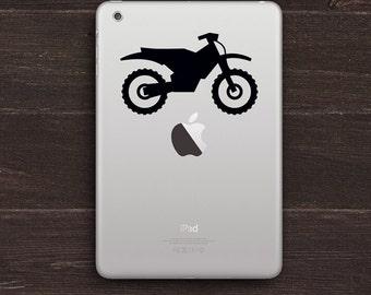 Dirt Bike, Motorcycle Vinyl iPad Decal BAS-0302