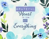 Grateful Heart Art Print