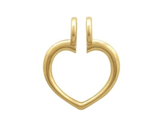 14K Yellow Gold Ring Keeper Pendant, Wear a treasured ring as a pendant