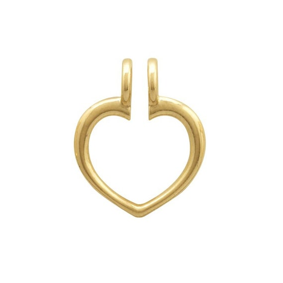 14k yellow gold ring keeper pendant wear a treasured ring as