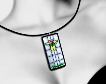 Printable  1 X 2 Digital  Pendants, Stained Glass Tiles, Instant Download, Printable Graphics,  for Dominoes, Scrapbooking, Jewelry,  CS 400