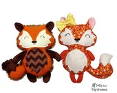Baby Fox Pattern Sewing DIY Quick and Easy Woodland Softie