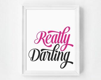 Typography, Preppy Art Print, Typography Print, Typography Wall Art, Typography Poster, Darling Quote Art, Typography Art, Typography Quote