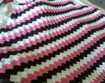 Crochet Girls baby blanket