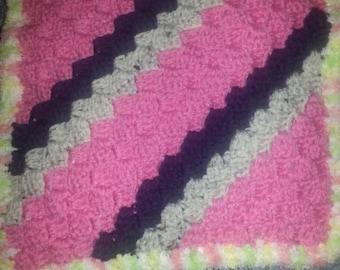 Baby girl crochet snuggie blanket