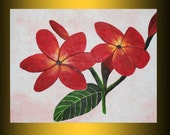 original flower painting abstract acrylic art sale free shipping by nithyafinearts ready to hang