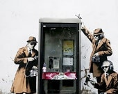 Banksy Canvas (READY TO HANG) - Spy Booth - Multiple Canvas Sizes