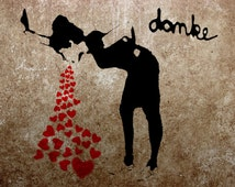 Banksy Canvas (READY TO HANG) - Lovesick - Multiple Canvas Sizes