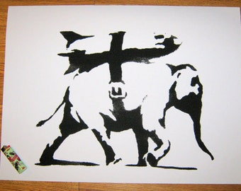 Banksy Print  - Elephant Black - Multiple Paper Sizes