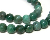 African Jade Beads, 8mm round natural gemstone, full and half bead strands   (578S)