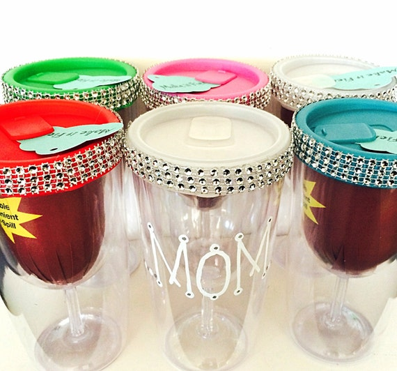 Portable wine glass travel adult sippy cup by makeitfierce