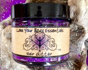 Purple hair glitter, temporary hair color, hair accessories, purple hair, purple hair tinsel