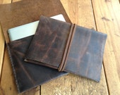 Rodgers iPad cover, handmade leather case, custom tablet case, leather tablet accessories, minimalist iPad leather cases by Aixa
