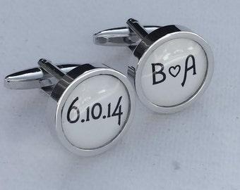 Custom date and initial cufflinks