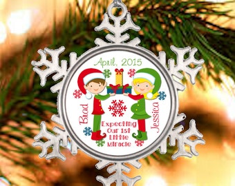Personalized Christmas Ornament - expecting parents ...