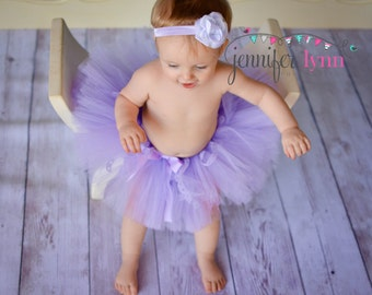ON SALE Tutu Skirt, Baby Tutu, Tutu, Infant Tutu, Tutu Skirts, Newborn Tutu, Lavender, With Matching Headband , Available In Size 0-24 Month