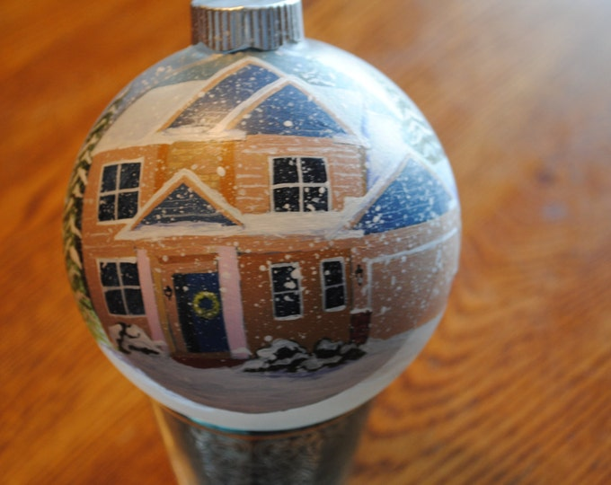 Custom Home Ornament done from a picture great christmas gift idea- sample sold
