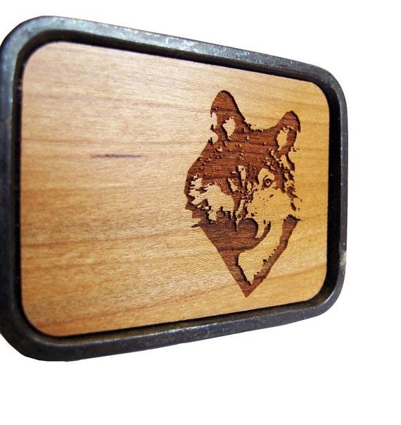 Wolf Wood Belt Buckle