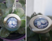 Rumina Antique Silver Cabochon Locket