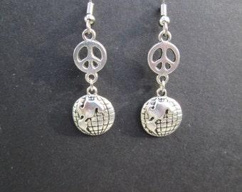 Peace on Earth earrings- hypo allergenic earwires