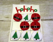 Christmas Ho Ho Ho Tic Tac Toe Game, Kids Game, Handcrafted Game, Birthday Gift, Holiday Gift, Travel Game, Stocking Stuffer