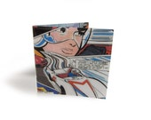 Speed Racer Wallet - Vintage Anime Manga Comic Page in Vinyl
