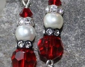 Santa Claus Christmas Earrings Mr. and Mrs. Claus