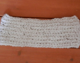 Alpaca Headband/Ear Warmer - Hand Spun Yarn - ADULT Size - Crocheted (#217)