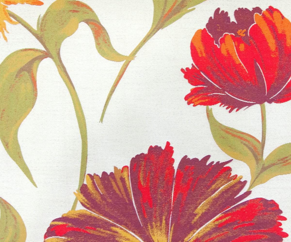 tissu rouge grosses fleurs kb par l 39 yard rideau tissu. Black Bedroom Furniture Sets. Home Design Ideas