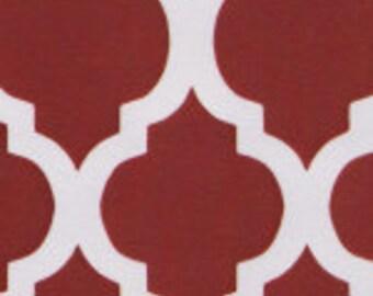 Fabric Finders Red Quatrefoils