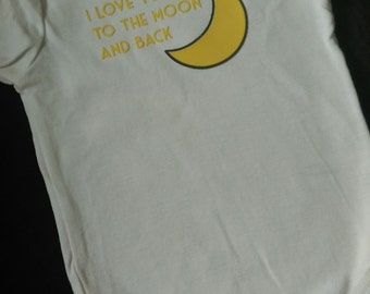 I love you to the moon and back infant creeper